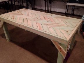 This table was made by a 13 year old!
