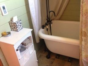Claw foot bath tub.