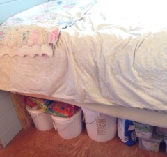Food storage under the bed!