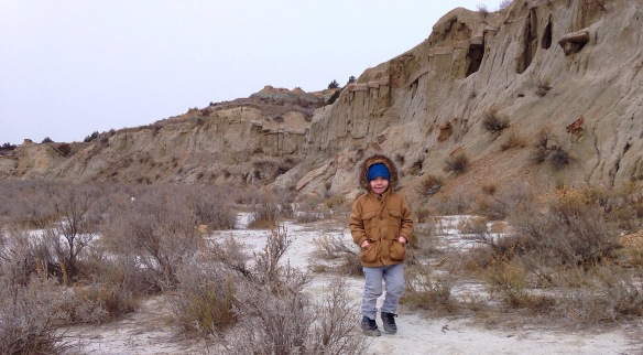 Winter hiking in Theodore Roosevelt National Park